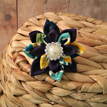 Dog Collar Flower // Jovial Azure // Hair Accessory // Blue Flower // Pet Flower // Collar Accessory // Floral Flower // Fabric Flower