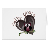 Owl be Yours, Valentine's Gifts Card