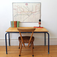 Vintage children's school desk / table