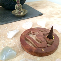 OM Incense Burner, Aum Symbol Insense Burner, for Yoga, Meditation, Candle Burner, Spiritual,