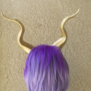 BEST SELLING! Gold Classic Young Maleficent Inspired Horns  3D Printed  choose your color comic-con
