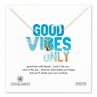 good vibes only flip flop necklace, gold dipped, 18 inch - Dogeared