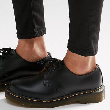 Dr Martens 1461 3-Eye Gibson Flat Shoes at asos.com