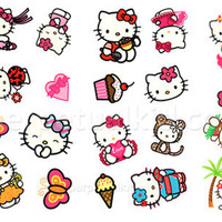 HELLO KITTY TEMPORARY TATTOOS