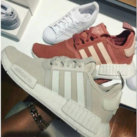 "Women ""Adidas"" Fashion Trending Beige And Gray Leisure Running Sports Shoes Grey"