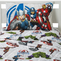 Marvel Avengers Bed Sheet Set Iron Man Captain America Earths Mightiest Heroes Bedding Accessories: Full