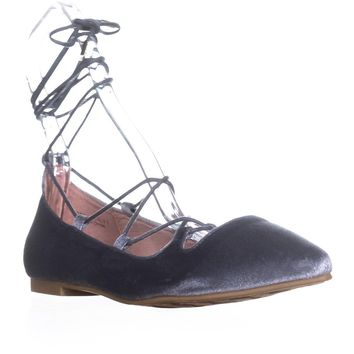 Chinese Laundry Endless Summer Lace Up Flats, Steel Blue, 10 US / 41 EU