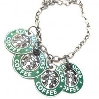 Starbucks Recycled Soda Can Jewelry Old Logo Upcycled Gift Necklace Eco Friendly Women Jewelry Women