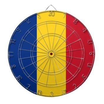 Dartboard with Flag of Romania