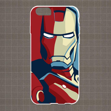 Ironman Vector iPhone 4/4S, 5/5S, 5C Series Hard Plastic Case