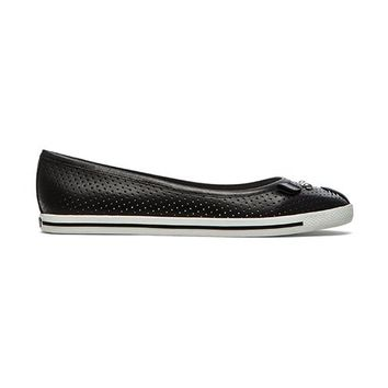 Marc by Marc Jacobs Perforated Mouse Flat in Black