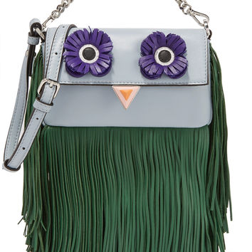 Fendi - Baguette micro fringed leather shoulder bag