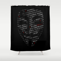 Remember Shower Curtain by HappyMelvin