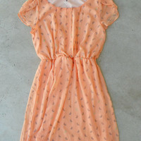 Social Butterfly Dress in Peach [4197] - $36.00 : Vintage Inspired Clothing & Affordable Summer Frocks, deloom | Modern. Vintage. Crafted.