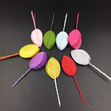 Hot DIY Fashion High Simulation Leaves Silk Stocking Flower Artificial Scrapbooking Party Decoration