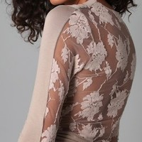 Mason by Michelle Mason Lace Back Dress