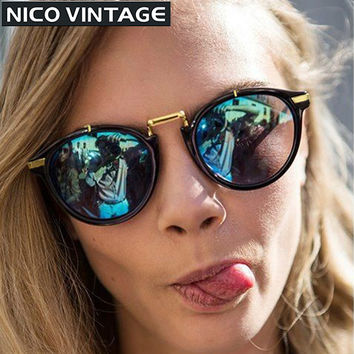 2016 Round Sunglasses Polarized Women Brand Designer Retro Brand Colorful Woman Shades UV400 Protection High Quality Sun Glasses