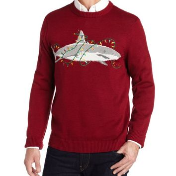 Alex Stevens Men's Sharky Ugly Christmas Sweater