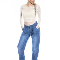 Relaxed and Chic Denim Joggers