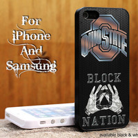 ohio state Custom case For iphone 4/4s,iphone 5,Samsung Galaxy S3,Samsung Galaxy S4