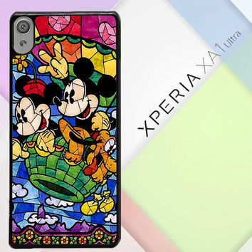 Disney Mickey & Minnie Mouse Stained Glass V0102 Sony Xperia XA1 Ultra Case