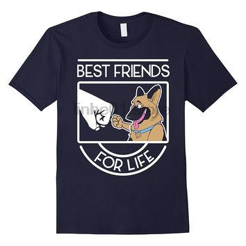 Best Friends For Life German Shepherd T-Shirt - Men's Tops