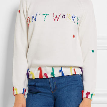Mira Mikati - Don't Worry tasseled merino wool sweater