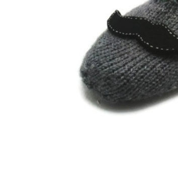 Ready to ship, Valentines Day , mustache , slippers, gray , gray slippers, mens slippers, home shoes, christmas