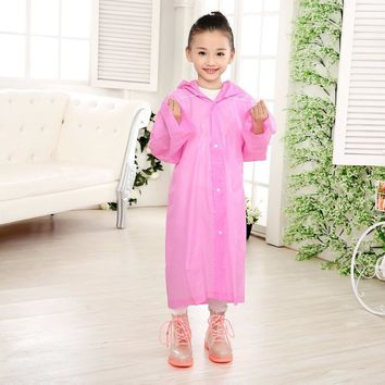 Kid's Hooded Waterproof Raincoat