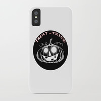 Pumpkin:Treat or Trick iPhone Case by Shashira Handmaker
