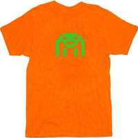 The Big Bang Theory Space Invader Adult Orange T-Shirt - The Big Bang Theory - | TV Store Online