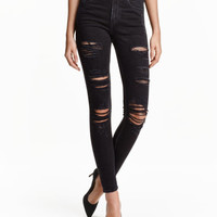 H&M Skinny High Trashed Jeans $39.99