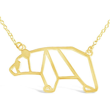 Bear Origami Necklace