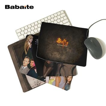 Babaite Buffy the Vampire Slayer Rubber Soft Gaming Mouse Games Black Mouse Pad Boy Gift Pad To Mouse Notebook Computer Mats
