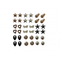 Set of 18 pairs of earrings studs girls women plastic jewellery