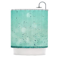 """Robin Dickinson """"Down by the Sea"""" Shower Curtain, 69"""" x 70"""" - Outlet Item"""