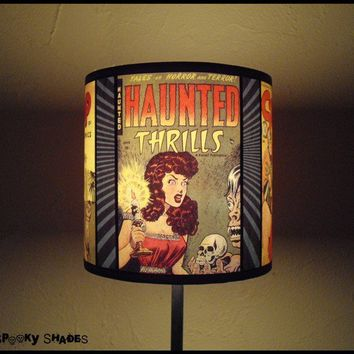 Shop lamp shades etsy on wanelo comic covers lamp shade lampshade by spookyshades on etsy aloadofball
