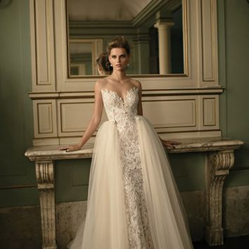 Berta Beaded Lace & Tulle Ballgown (In Stores Only) | Nordstrom
