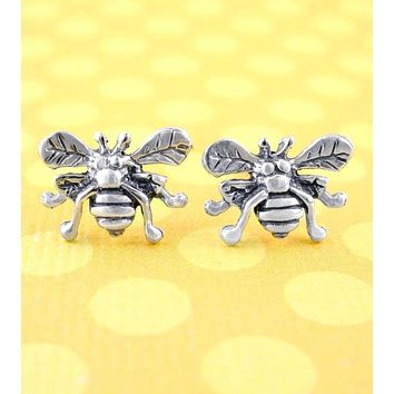 Tiny Honey Bee Earrings
