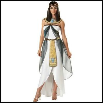 White Egyptian princess dress Halloween cosplay costume Party adult warrior clothes female Greek goddess fancy cosplay clothes
