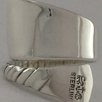 Size 6 Vintage Sterling Silver Spoon Ring
