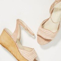 Carmen Salas Dalia Wooden Wedge Sandals