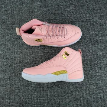 New Color Pink Air jordan 12 retro sneaker GS
