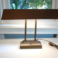 Vintage, Desk Lamp, Drafting Table Lamp, Metal, Tan, Industrial, Art Deco, Mid Century, Lighting, Lamp, RhymeswithDaughter
