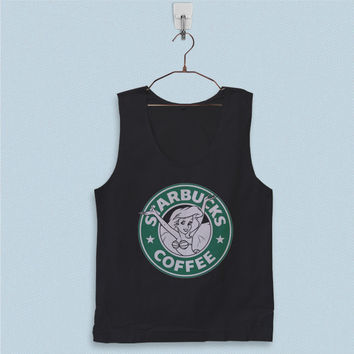 Men's Basic Tank Top - Ariel The Little Mermaid Starbucks Logo