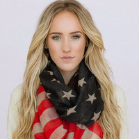 American Flag Loop Scarf