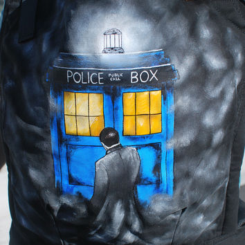 Custom Hand Painted Dr Who Tula Baby Carrier