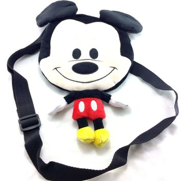 Disney Mickey Mouse Boys & Girls Small Red Mickey Shaped Shoulder Bag