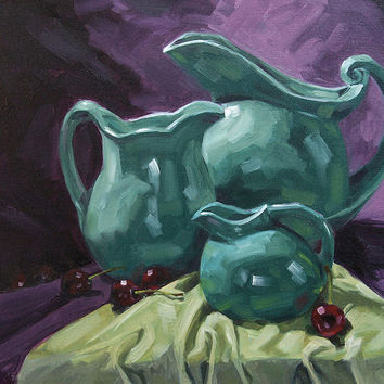 Large still life giclee on canvas print with by FinnellFineArt