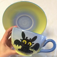 Toothless Cup and Saucer Set